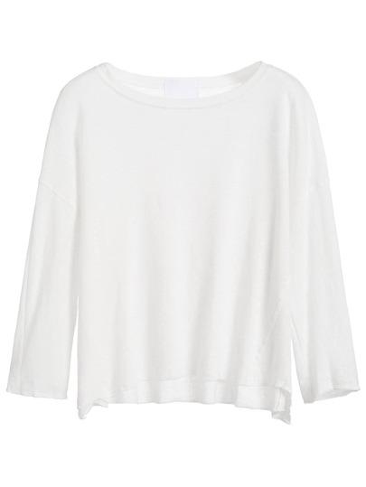 White Drop Shoulder T-shirt