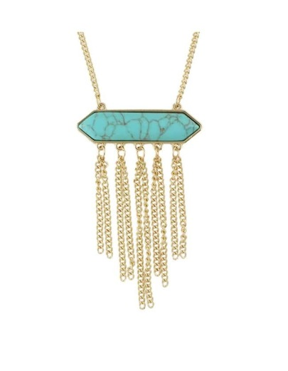 Blue Turquoise Necklace With Tassel