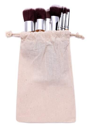 11PCS Brown Professional Makeup Brush Set With Drawstring Bag
