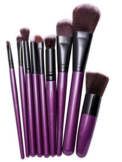 9PCS Purple Professional Makeup Brush Set
