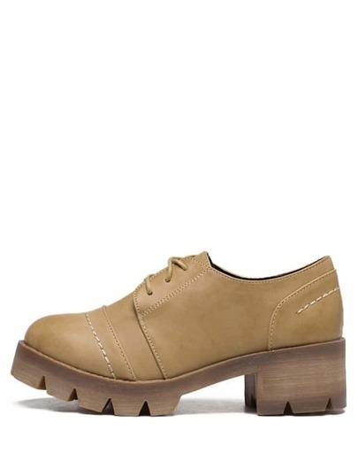 Schuhe Schnürband Gummi Sohle - braun