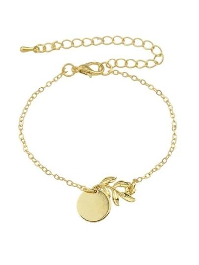 Simple Gold Color Chain Bracelet