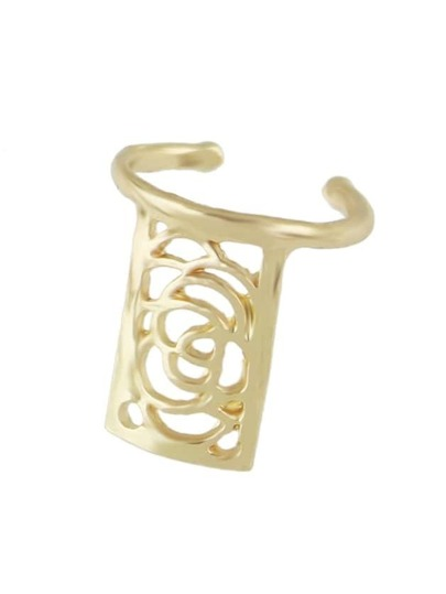 Gold Color Latest Model Small Finger Nail Ring For Women