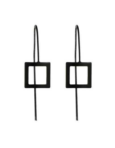 Black Punk Long Stick Earrings