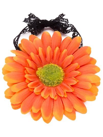 Orange Flower Beach Bracelet