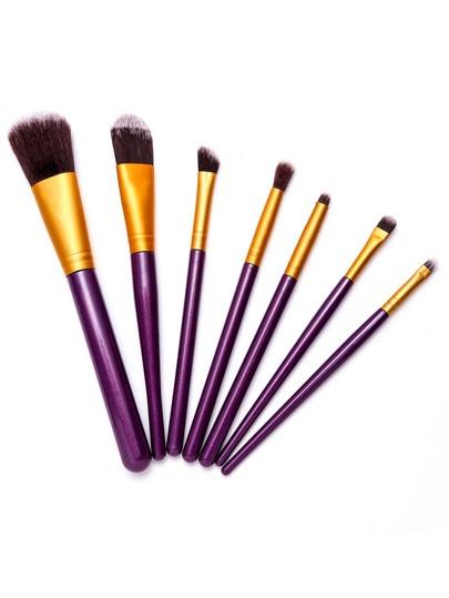 7PCS Purple Professional Makeup Brush Set