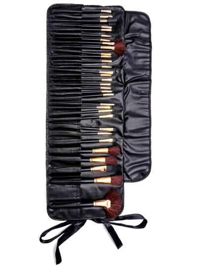 32PCS Black Professional Makeup Brush Set With Bag