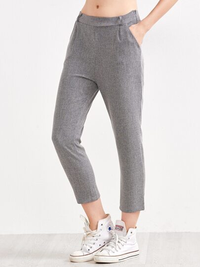 Heather Grey Straight Leg Pants