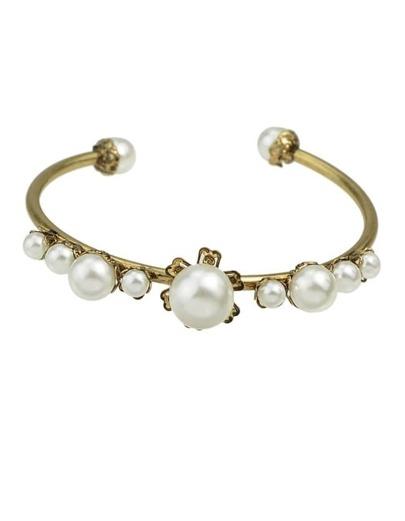 Pear Open Cuff Bracelet