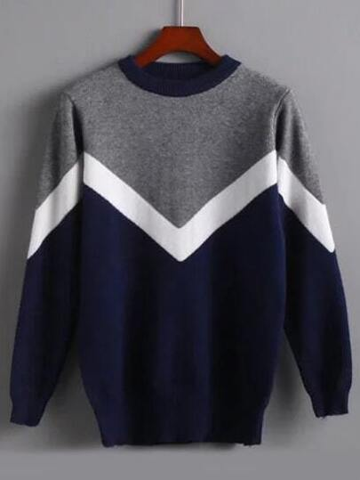 Jersey manga larga color combinado