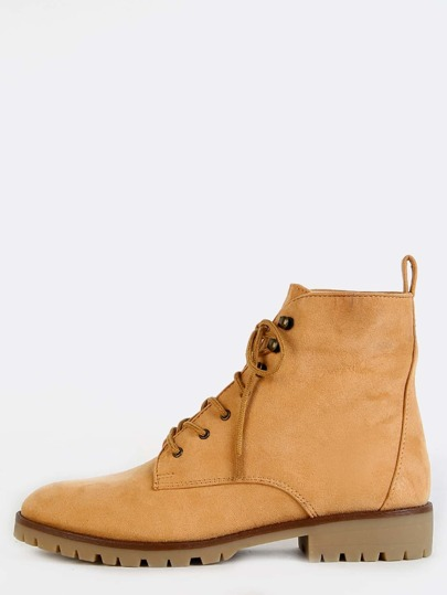 Almond Toe Suede Outdoor Ankle Boots TOFFEE