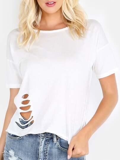 Plain White Short Sleeve T-shirt