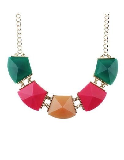 Colorful Acrylic Stone Collar Necklace