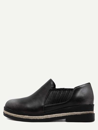 Espadrille Schuhe Kunstleder - dunkel grau