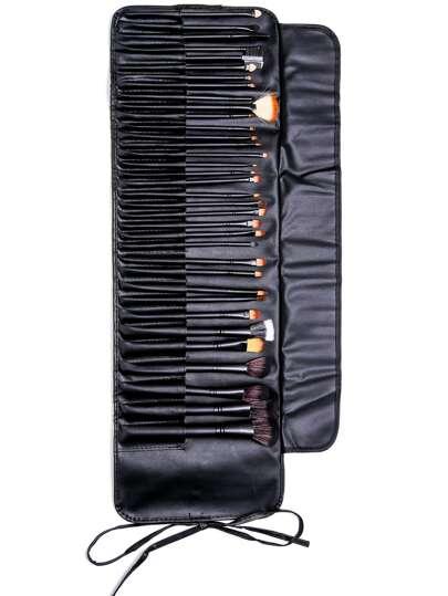 35PCS Black Professional Makeup Brush Set With Bag