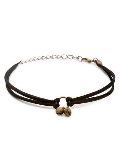 Armband mit Glocken Charm - bronze