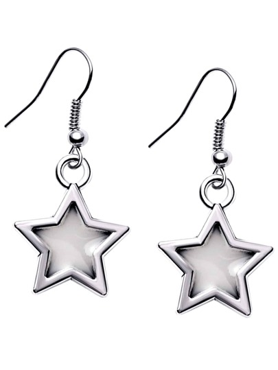 Silver Plated Luminous Star Drop Earrings