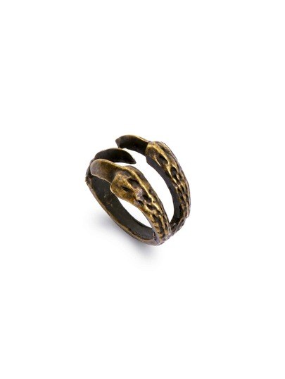 Bronze Eagle Claw Retro Ring