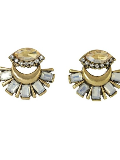Rhinestone Flower Cute Stud Earrings