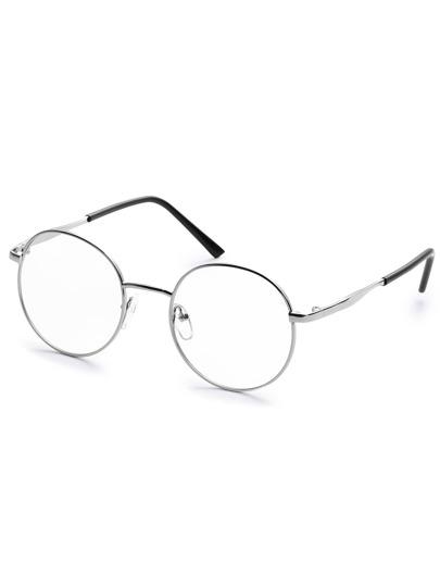 Occhiali Da Sole Rotondi Alla Moda - D'Argento