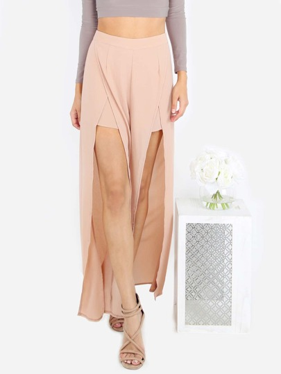 Maxi Split Pants BEIGE