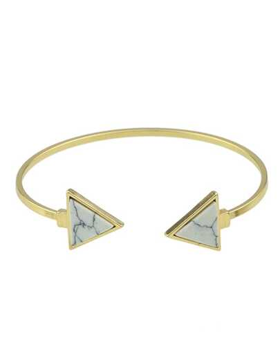 White Turquoise Cuff Bracelet
