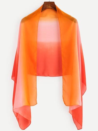 Orange Ombre Chiffon Scarf