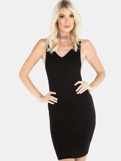 Low Back Cami Mini Dress BLACK