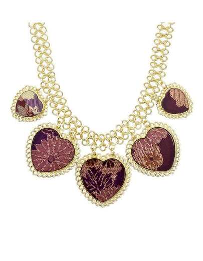 Acrylic Heart Collar Necklace