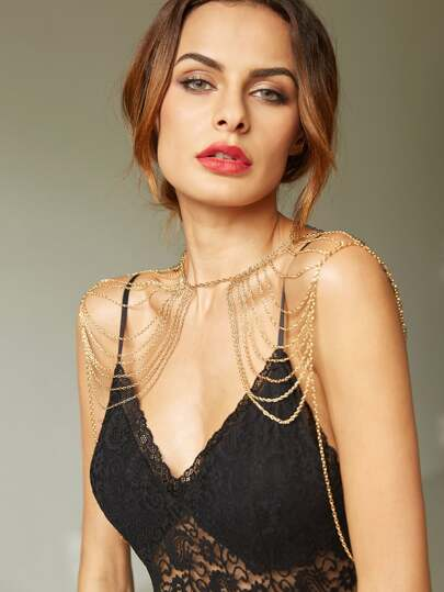 Gold Layered Sexy Shoulder Chain
