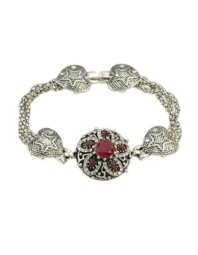 Red Rhinestone Heart Shape Bracelet