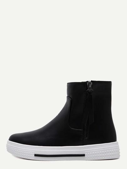 Zapatillas de deporte hi-top con cremallera - negro