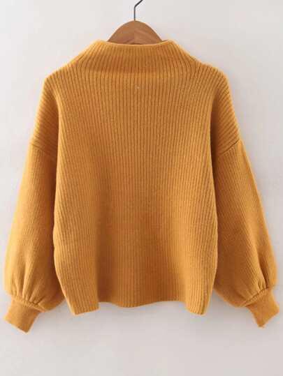 Jersey holgado con manga farol - amarillo