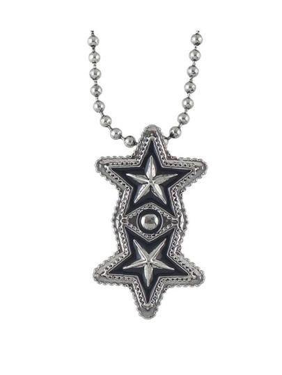 Simple Enamel Star Shape Long Pendant Necklace