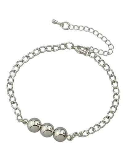 Silver Latest Design Chain Link Bracelets Set