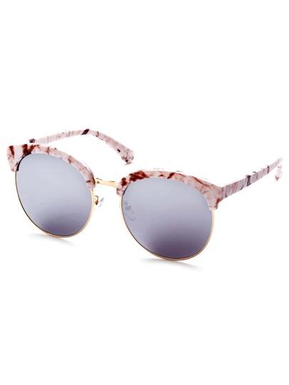 Gafas del sol con lentes redondas