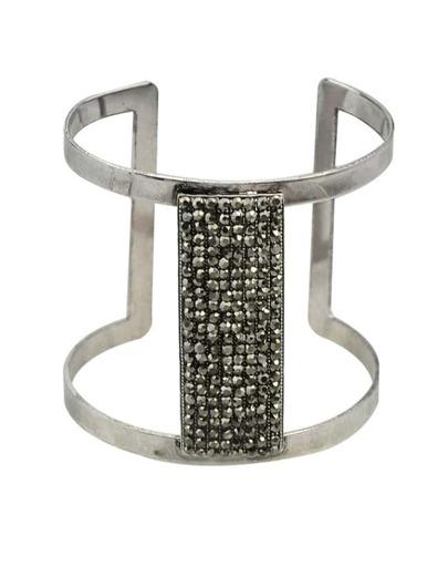 Black Beads Cuff Bangle