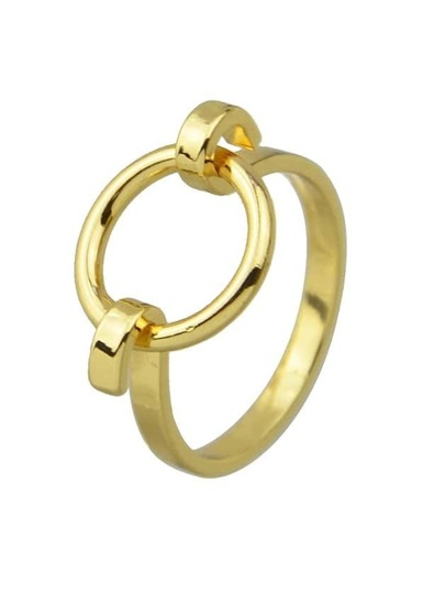 Gold Casual Statement Finger Ring