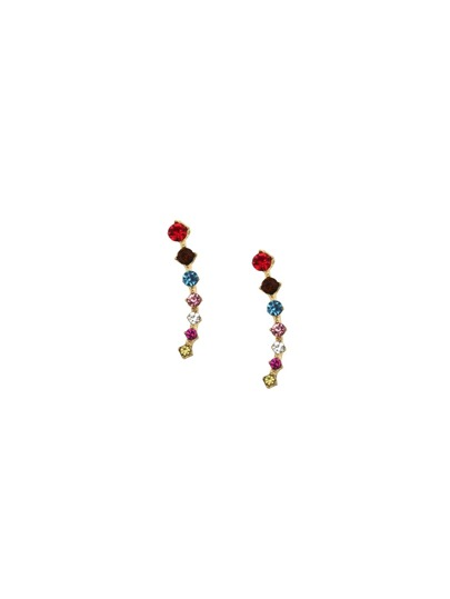 Multicolor Rhinestone Encrusted Ear Pins