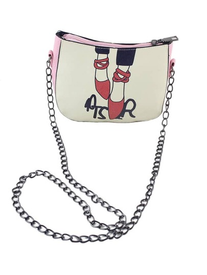 Pink Cute PU Leather Shoulder Bag For Women