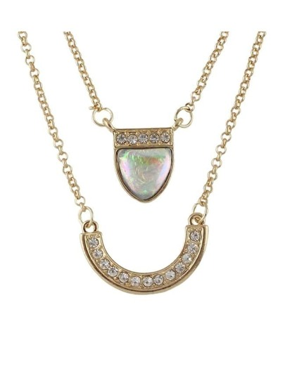 Double Layers Pendant Necklace