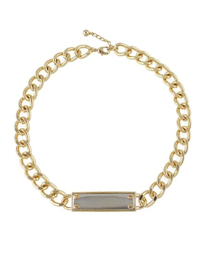 Gold Plated Chain Collar Necklace