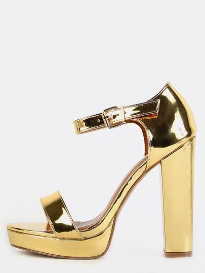 Metallic Platform Heels GOLD
