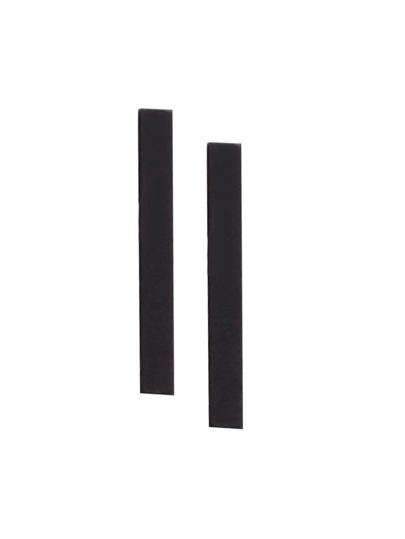Black Straight Bar Simple Stud Earrings
