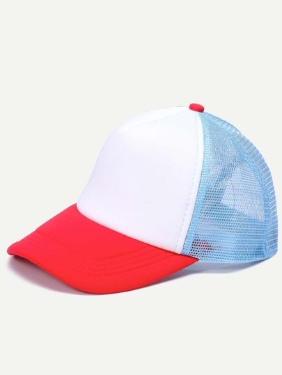 Colorblock Mesh Snapback Baseball Cap