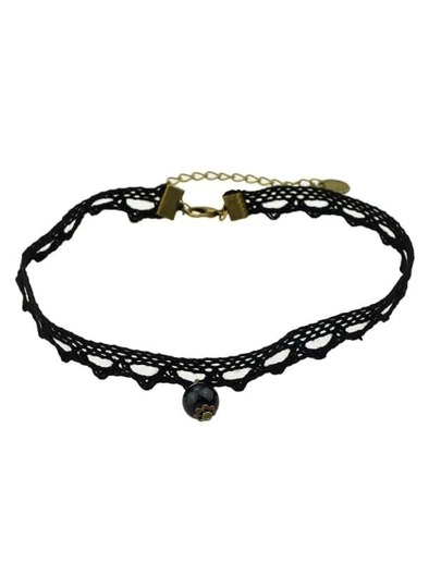 Black Braided Rope Choker Necklace