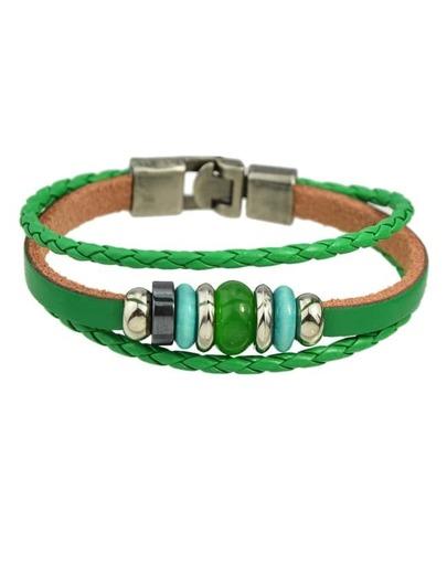 Beads Pu Leather Wrap Bracelet