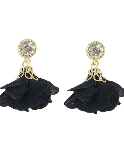 Black Women Jewelry Flower Drop Earrings