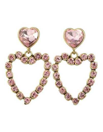 Heart Shape Big Stud Earrings