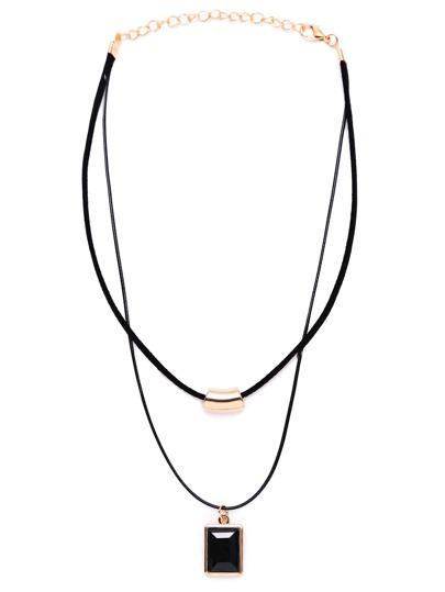 Black Golden Fashion Choker Necklace